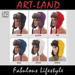Flieger-Mütze mit Kunstfell in verschiedenen Farben