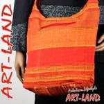 Beuteltasche / India Bag Rot Orange