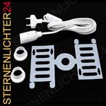 Kabel Set 3m Zuleitung weiß E14 inkl. Abstandshalter! Top Preis!