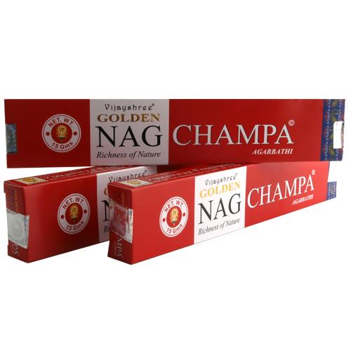 3er Set Räucherstäbchen Nag Champa Gold