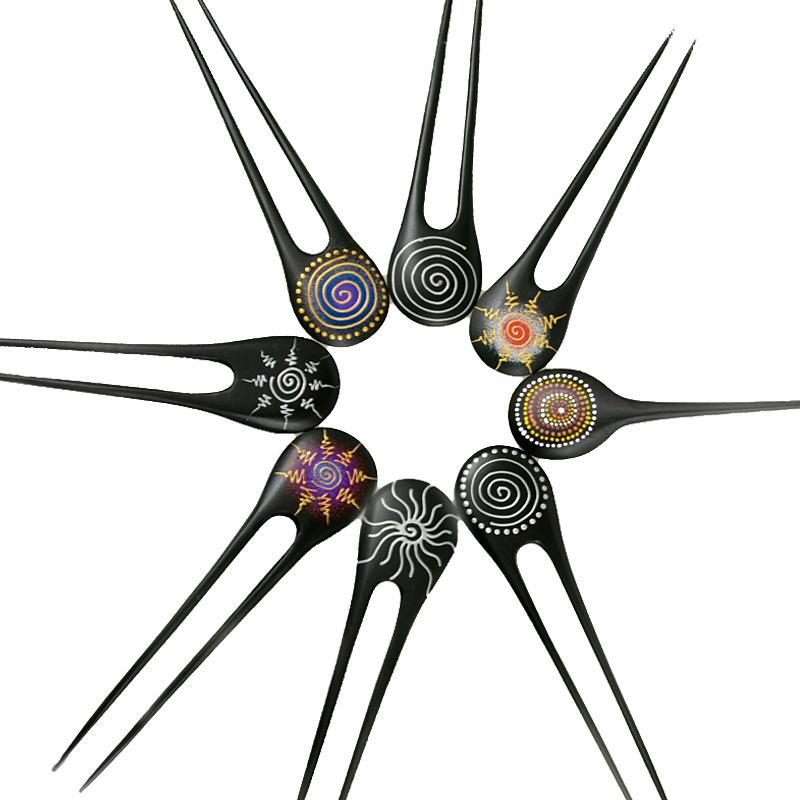 Haarnadel mit verschiedenen Sonnenzeichen