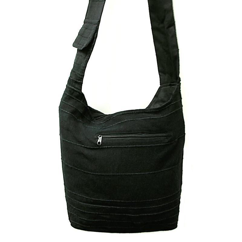 Beuteltasche / India Bag schwarz gestreift