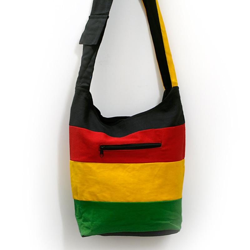 Beuteltasche / India Bag schwarz rot gelb grün