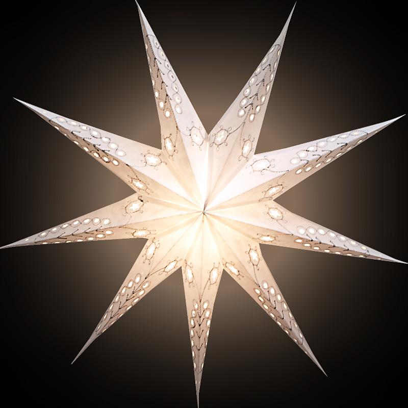 sternenlicht papierstern leuchtstern weihnachtsstern pandora wei 9zack ebay. Black Bedroom Furniture Sets. Home Design Ideas